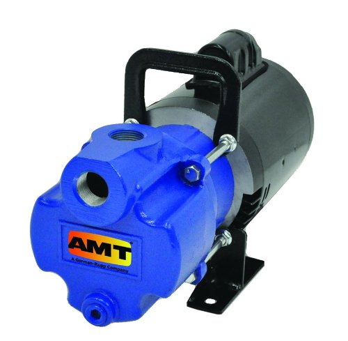 AMT Pump 2851-96 Self-Priming Utility Pump, Aluminum, 1/3 HP, 1 Phase, 115/230V, Curve B, 1'' NPT Female Suction & Discharge Ports