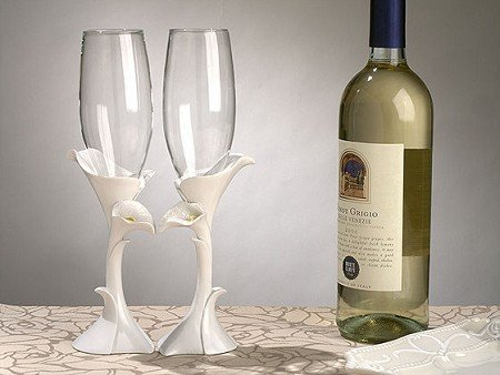 Calla Lily Toasting Glasses C400 Quantity of 1