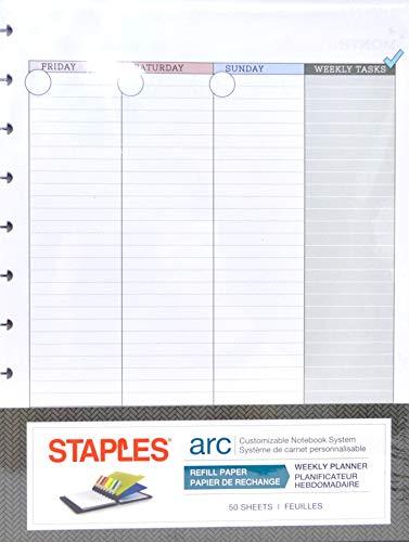 "Staples ARC Undated Monthly Planner 8.5""x11"""