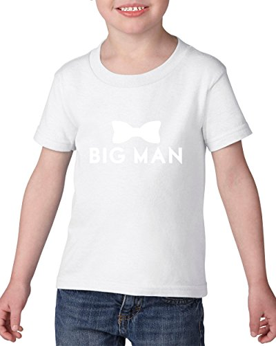 [Ugo Big Man Bow Tie Fathers Day Funny Prom Costume Awesome Best Friend Gift for Halloween Christmas Cool Party Heavy Cotton Toddler Kids T-Shirt Tee] (Awesome Toddler Halloween Costumes)