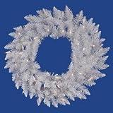 Vickerman 24'' Sparkle White Spruce Wreath with 50 Warm White lights