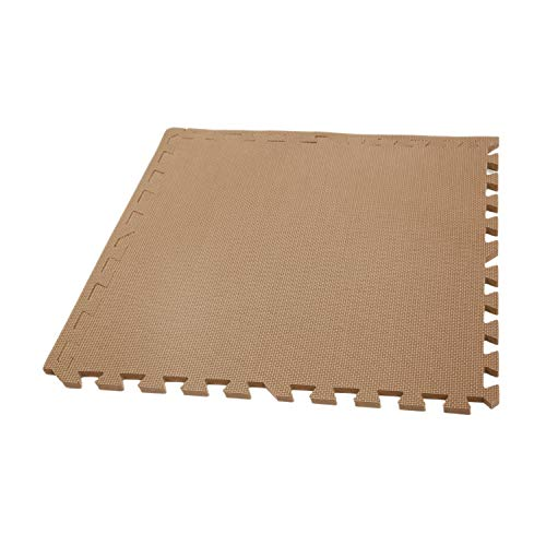- IncStores Eco Soft+ Foam Tiles (12 Tiles, Brown) Interlocking Foam Flooring Mats with Removable Edges