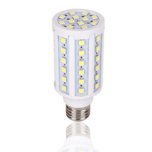 Medium Base 12 Volt LED Light Bulb DC 12V-20V 6000K Bright White Screw E26 Camper Outdoor RV NiMh Lithium Deep Cycle Battery Emergency Work Lamp Off Grid Outdoor Solar Landscape Lighting E27 60x 5050