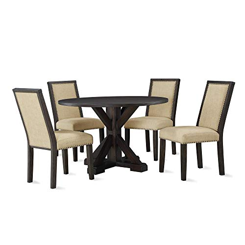 Dorel Living DA8135 Lanley 5-Piece Round, Rustic Brown Dining Set