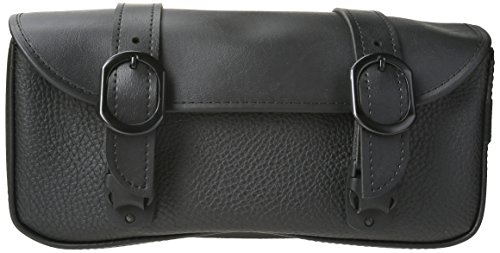 Willie & Max by Dowco 59590-00 Black Jack Series: Synthetic Leather Motorcycle Tool Pouch, Black, Universal Fit - Willie And Max Bag
