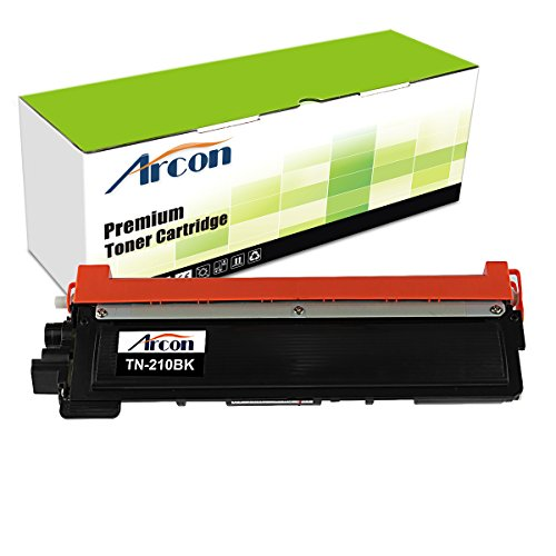 ARCON 1PK Black (2,200 pages) Compatible Toner Cartridge Replacement For Brother TN210BK TN-210 TN210 For Printers HL-3040CN HL-3070CW HL-3045CN HL-3075CW MFC-9010CN MFC-9320CW MFC-9125CN MFC-9325CW