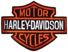 Parche para Harley Davidson, logotipo B&S Media, 13 x 9,5 cm, para chaquetas y chalecos