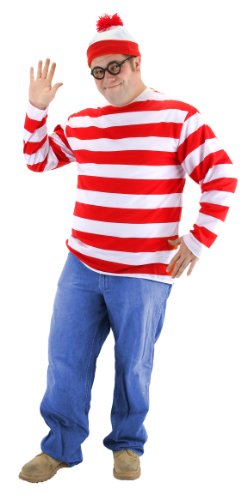 Where's Waldo Costume Men (elope Where's Waldo Adult XX-Large Costume Kit)