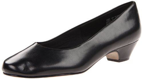 Soft Style Women's Angel II Pump,Black Smooth,8 XW US