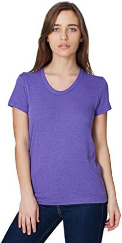 American Apparel Women Tri-Blend Short Sleeve Women's Track T-Shirt