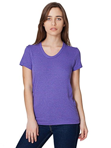 Tri Orchid (American Apparel Women's Tri-Blend Short Sleeve Women's's Track T-Shirt Size L Tri-orchid)
