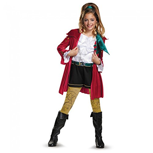 CJ Deluxe Descendants Wicked World Disney Costume, (Halloween Costumes From Party City For Girls)