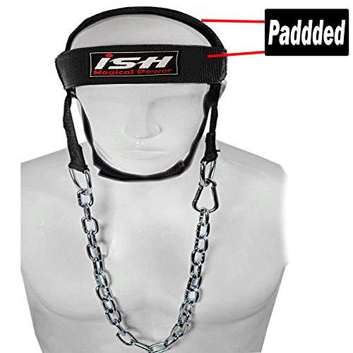 ISH Gym Weight Lifting Head Neck Harness Nylon Straps Fitness Strength Training