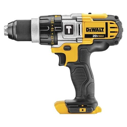 Dewalt DCD985BR 20V MAX Cordless Lithium-Ion Premium 3-Speed Hammer Drill (Bare Tool) (Certified Refurbished)