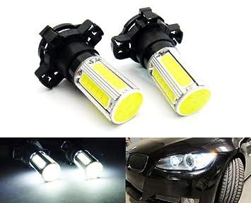PY24W PSY24W - 2 bombillas LED COB para luz diurna para A4 B8 E90 E91 E92 F10 X3 X5 X6 Z4, color blanco: Amazon.es: Coche y moto