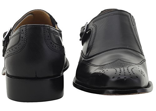 Mens Double Buckle Wing Tip Dress Shoe 13 Black Frenzystyle
