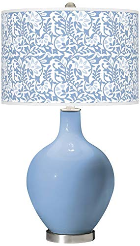 Placid Blue Gardenia OVO Table Lamp - Color + Plus ()