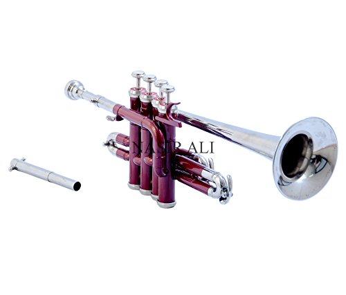 Nasir Ali PiTr-02, Piccolo Trumpet, Bb, Red and Nickel by NASIR ALI
