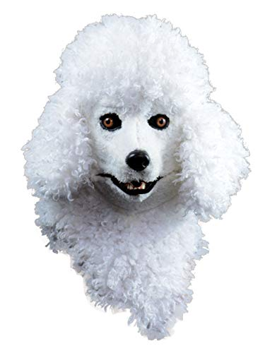 Forum Novelties Unisex-Adults Moving Jaw Masks-Poodle, White, Standard -