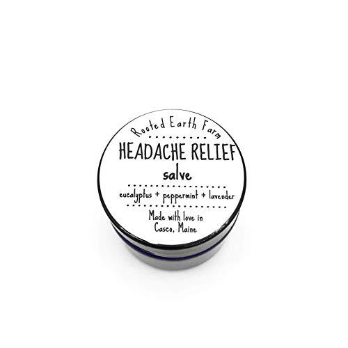 Headache Relief Organic Salve 1 oz for Migraines, Lavender Peppermint Eucalyptus ()
