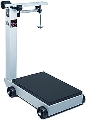 Detecto 854 F100pk portátil báscula de suelo mecánica, 1.000 LB./500 kg capacidad, 19