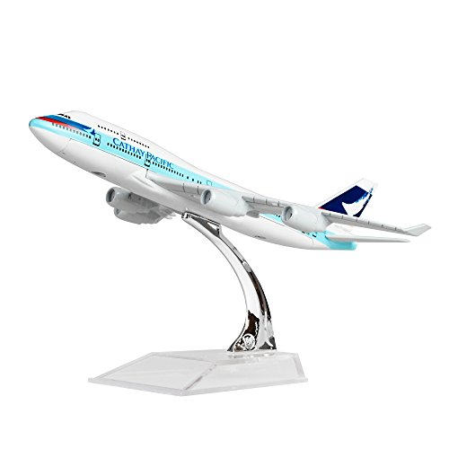Diecast Airplne 1 400 Hongkong Cathay Pacific B747 Metal 6 3Inches 16Cm  Plane Model Office Decoration Or Gift By Leses