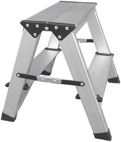 RMXMY Aluminio Escalera de 2/3 escalones Plegable Antideslizante Capacidad liviana Plataforma Taburete Escalera de tijera plegable Escalera escalonada con doble lado antideslizante y Pedal ancho para: Amazon.es: Coche y moto
