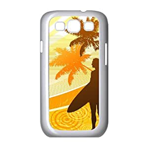 Surfing Orange Samsung Galaxy S3 Cases, Samsung Galaxy S 3 Cases for Girls Pattern Okaycosama - White