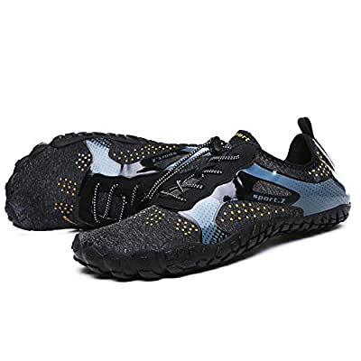 Vickyleb Sneakers Mens Water Shoes Quick Dry Lightweight Barefoot Shoe Aqua Sports Socks for Swimming Walking Diving Surfing at  Men's Clothing store