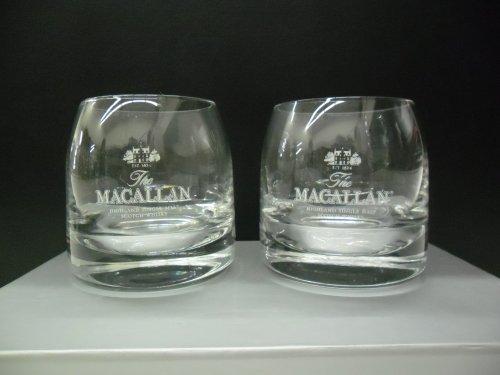 Set of 2 The Macallan Highland Single Malt Scotch Whisky Lowball Rocks ()