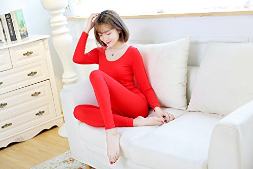GBHNJ Thermal Underwear Sets Women'S Slim Autumn And Winter Red F(Suitable Weight 80-130 Catty) by GBHNJ Thermal Underwear