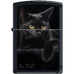 """Zippo """"Black Cat"""" Black Matte Lighter, 5134"""