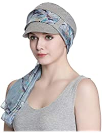 e15edb263bdd1a Breathable Bamboo Fiber Lined Newsboy Hat and Scarf Set for Women