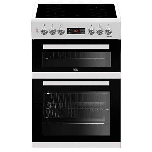 Beko KDC653W 60cm Double Oven 4 Burners Ceramic Cooker in White with Fully...