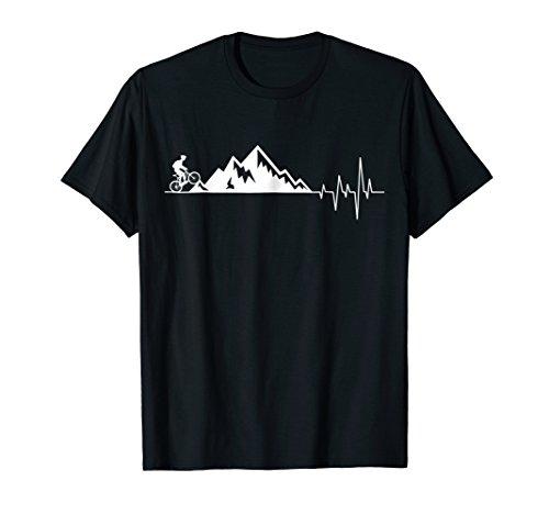 funny t-shirt for Mountain Bike Heartbeat for MTB Bikers ()