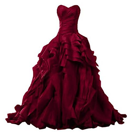 Fair Lady Ruffles Ball Gown Quinceanera Dresses Princess Party Prom 2017 ()