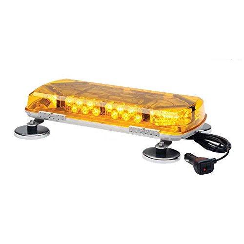 Whelen Led Light Bars - Whelen Century Amber Mini Lightbar with Magnetic Mount - 12 Volt, 16in., 8 LEDs, Model# MC16MA