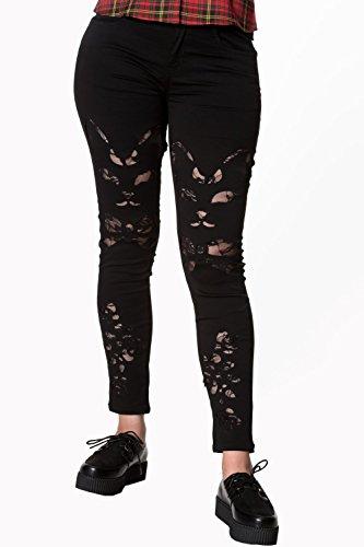 nero Banned Keza Elasticizzati Nero Jeans wC0pXqUxc