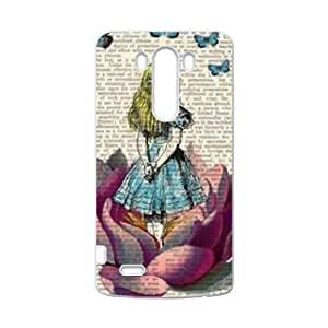 HWGL Lovely girl and butterfly Cell Phone Case for LG G3