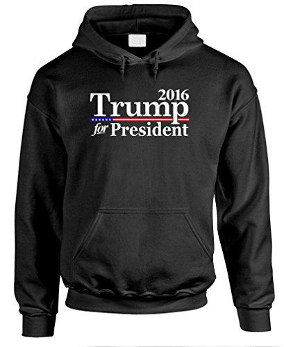 TRUMP FOR PRESIDENT 2016 republic candidate - Mens Pullover Hoodie, S, Black