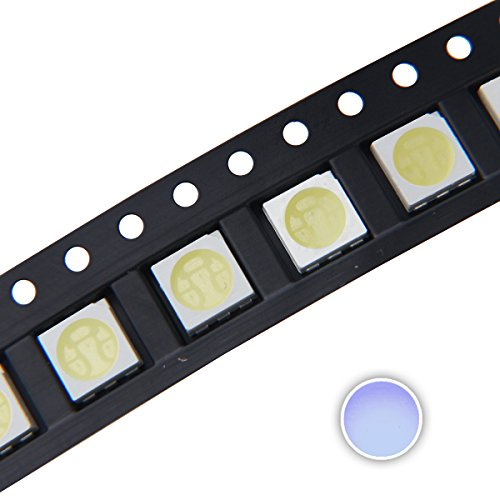 (Chanzon 100 pcs 5050 Cool White 10000K SMD LED Diode Lights (Surface Mount 5.0mm x 5.0mm 3 Chips PLCC 6 pins 60mA 15-18LM) Super Bright Lighting Bulb Lamps Electronics Components Light Emitting Diodes)