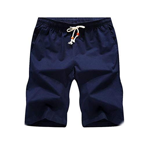 Get-in Shorts Men Casual Beach Shorts Quality Bottoms Elastic Waist Fashion Boardshorts,Blue,XXXL ()