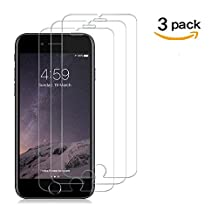 [3 Pack]QIANXIANG Tempered Glass,iPhone 6 Plus/6S Plus/7 Plus Screen Protector,No Bubbles,9H Hardness,3D Touch Compatible,Oil and Scratch Coating.