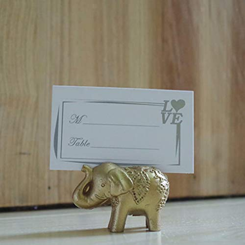 BROSCO Hawaii Beach Palm Tree Elephant Name Place Card Holder Wedding Party Table Decor | Design - Elephant
