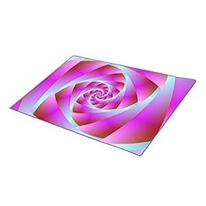 Winlighting Pink Fractal Monogrammed Door Mat