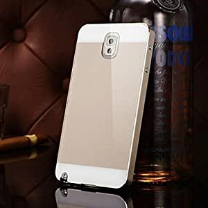 dos-en-uno kx espejo de acrílico marco de metal de la marca posterior de metal duro caso para Samsung Galaxy Note 3 (colores surtidos) , Black