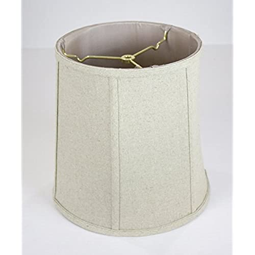 10x12x12 Sand Linen Fabric Empire Shantung Lampshade With Brass Spider  Fitter By Home Concept   Perfect For Table And Desk Lamps   Medium, Tan