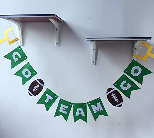 Astra Gourmet Non-Woven Fabric Football Pennant Banner - Go Team Go Football Theme Party Banner Party Decorations