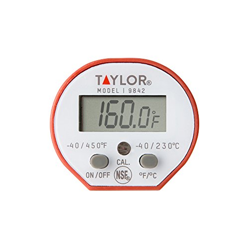 Taylor Precision Products Waterproof Digital Instant Read Thermometer for Cooking, BBQ, Grilling, Baking, and Meat…