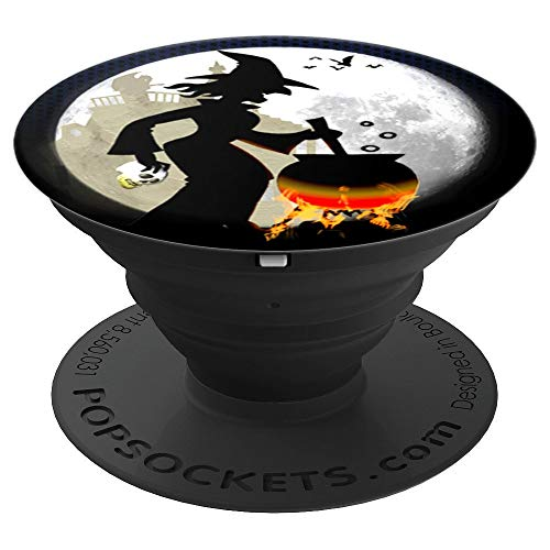 Funny Spooky and Scary Witch Halloween Party Gift Idea - PopSockets Grip and Stand for Phones and Tablets ()
